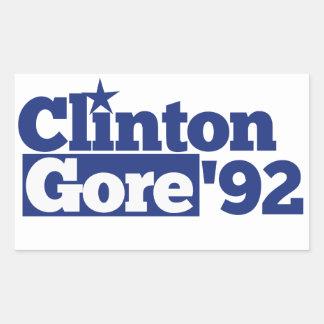 Bill Clinton Al Gore 1992 retro politics Stickers