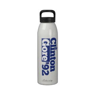 Bill Clinton Al Gore 1992 retro politics Water Bottle