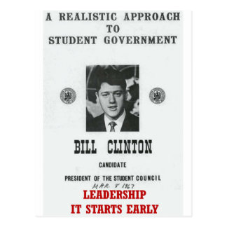 Bill Clinton at Georgetown LEADERSHIP Postcard