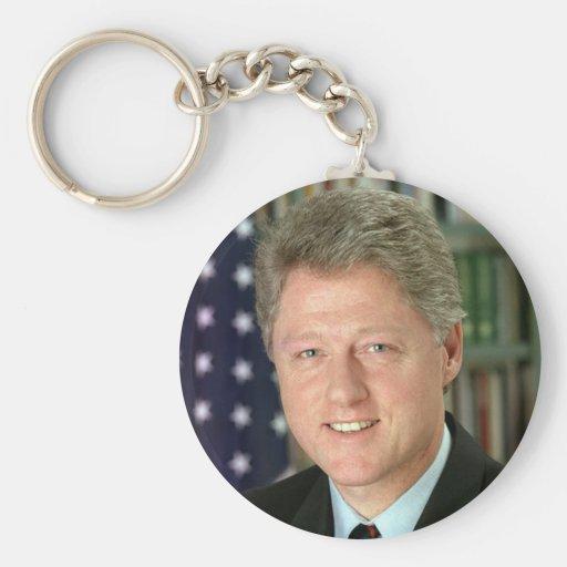 Bill Clinton Basic Round Button Keychain
