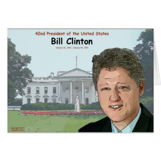 Bill Clinton Cartoon Card