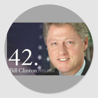 Bill Clinton Classic Round Sticker