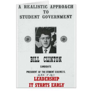 Bill Clinton en la DIRECCIÓN de Georgetown Tarjetón