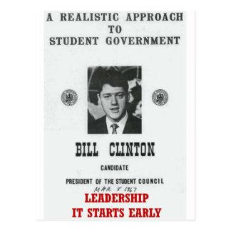 Bill Clinton en la DIRECCIÓN de Georgetown Tarjeta Postal