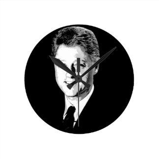 Bill Clinton Face Round Wallclock
