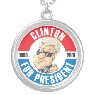 Bill Clinton For President Necklace