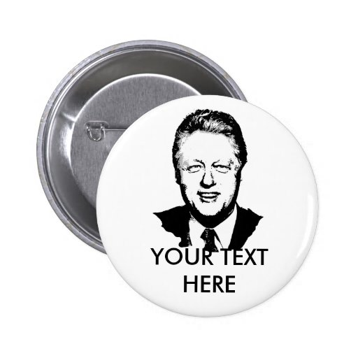 Bill Clinton Gear Pinback Button