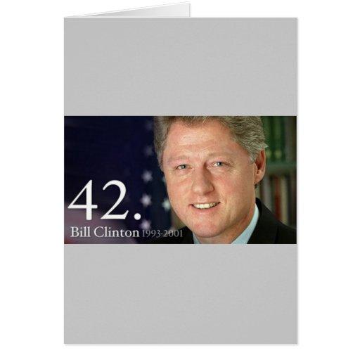 Bill Clinton Greeting Card