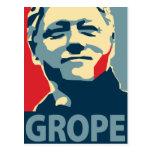 Bill Clinton - Grope: OHP Postcard