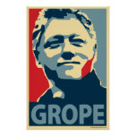 Bill Clinton - Grope: OHP Poster