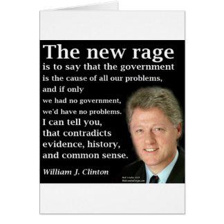 Bill Clinton No Government Quote Card