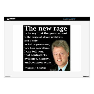 Bill Clinton No Government Quote Decals For Laptops