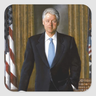 Bill Clinton Official White House Portrait Stickers