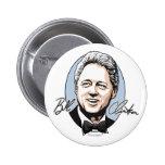 Bill Clinton para el primer botón del caballero Pin