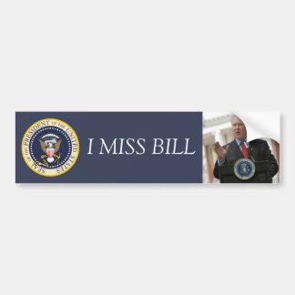 Bill Clinton: Pegatina para el parachoques Pegatina Para Auto