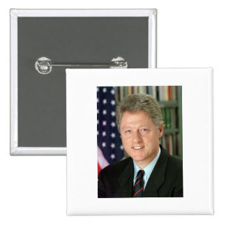 Bill Clinton Pin Cuadrada 5 Cm