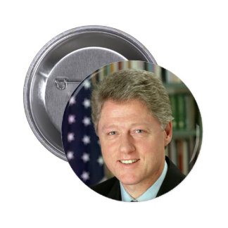 Bill Clinton Pin Redondo 5 Cm