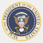Bill Clinton: Presidente Seal Sticker Pegatina Redonda