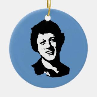 Bill Clinton retro Christmas Tree Ornaments
