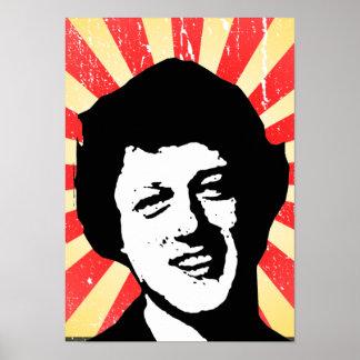 Bill Clinton retro Print