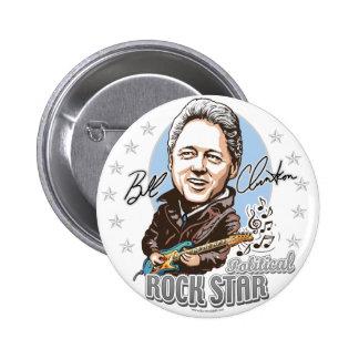 ¡Bill Clinton Rockstar político! Botón