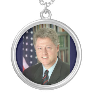Bill Clinton Silver Plated Necklace