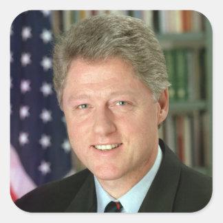 Bill Clinton Square Sticker