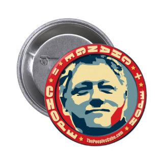 Bill Clinton - tanteo: Botón de OHP Pin