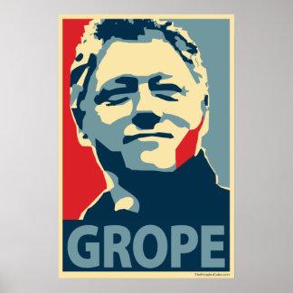 Bill Clinton - tanteo: Poster de OHP