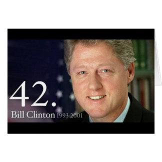 Bill Clinton Tarjeta De Felicitación
