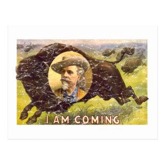 Bill Cody -1899 - distressed Postcard