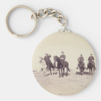 Bill Cody and Riders Basic Round Button Keychain
