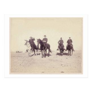 Bill Cody and Riders Postcard