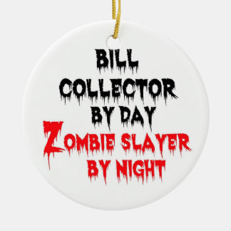 Bill Collector Zombie Slayer Double-Sided Ceramic Round Christmas Ornament