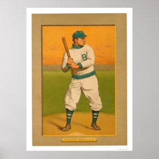 Bill Dahlen Dodgers Baseball 1911 Poster