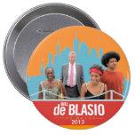 Bill de Blasio & Family NYC Mayor 2013 Pinback Button