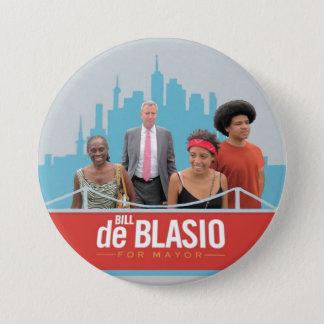 Bill de Blasio for NYC Mayor in 2013 Button