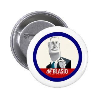 Bill De Blasio NYC alcalde 2013 Pin Redondo De 2 Pulgadas