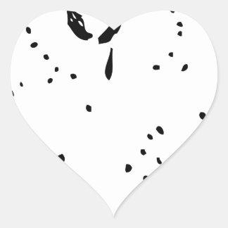 Bill de la mano negra pegatina en forma de corazón