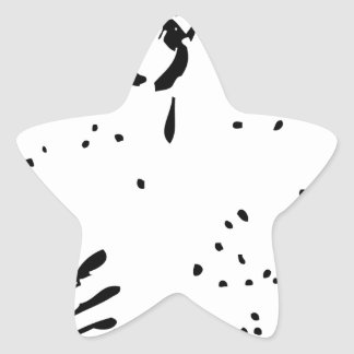 Bill de la mano negra pegatina en forma de estrella