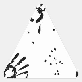 Bill de la mano negra pegatina triangular