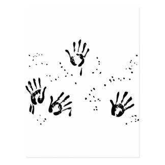 Bill de la mano negra postal