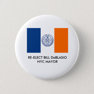 Bill DeBlasio for New York City Mayor Button