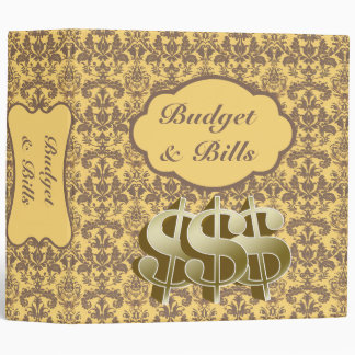 Bill Debt Budget Family Organizer•Orange• 3 Ring Binder