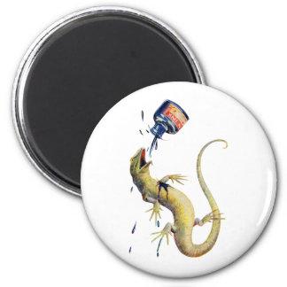 Bill el lagarto imán redondo 5 cm