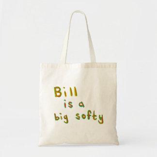 Bill es un arte colorido del nombre de la pintura  bolsas de mano
