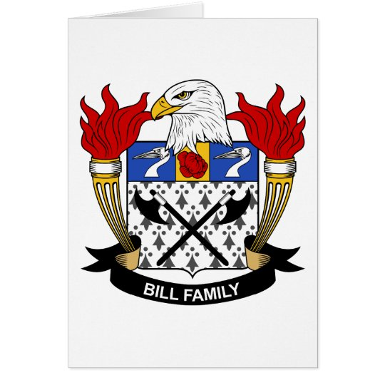 Bill Family Crest Card