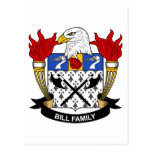 Bill Family Crest Post Cards