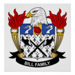 Bill Family Crest Posters