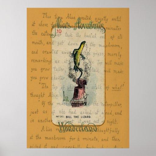 Bill la impresión del lagarto poster